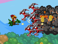 Play Sky Fire Knight game