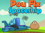 Play Pou Fix Spaceship game