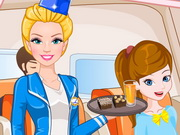 Play Barbie Flight Attendant In Paris game
