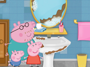 Play Peppa Pig Cleaning Bathroom game