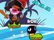 Play Bomb The Pirate Pigs game