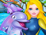 Play Princess Elsa Dolphin Show game