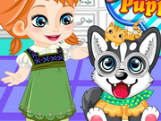 Play Frozen Anna Puppy Caring game