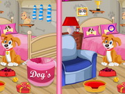 Play Puppy Bedroom Find 10 Difference game