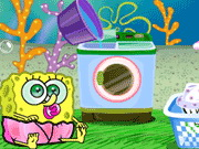 Baby SpongeBob Washing Clothes Game