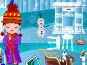 Play Baby Nora Frozen Rooms Cleaning game