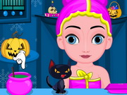 Play Baby Elsa Halloween Makeup game