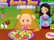 Baby Pink Garden Time Game