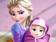 Play Elsa And The New Born Baby game