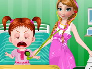 Play Frozen Anna Baby Doctor game