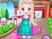 Baby Elsa Goes To School Game
