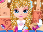 Play Baby Barbie Disney Hair Salon game