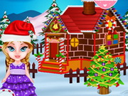 Play Baby Elsa And Gingerbread House game