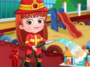 Play Baby Hazel Firefighter Dressup game
