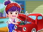 Play Baby Hazel Mechanic Dressup game