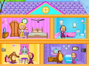 Play Masha And The Bear Dollhouse game