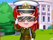 Play Baby Hazel Defense Officer Dressup game