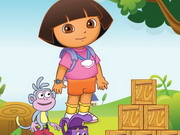 Play Dora Building Block game