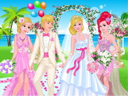 Play Princesses At Barbie's Wedding game