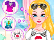 Play Barbie Summer T-shirt Makeover game
