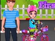 Play Little Girl First Bike game