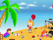 Play Childrens Beach Cleaning game