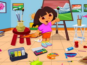 Play Dora Drawing Room Cleaning game