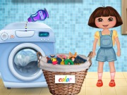 Play Dora Washing Clothes game