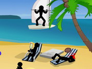 Stickman Death Beach Game