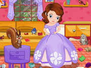Play Sofia The First Room Cleaning game