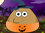 Play Pou Halloween Costume game