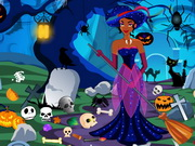 Play Princess Halloween Graveyard Cleaning game