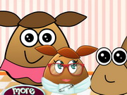 Play Pou Family At The Docto game