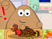 Play Pou Thanksgiving Day Slacking game