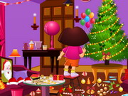 Play Dora Xmas Room Cleaning game
