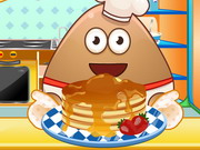 Play Pou Cooking Pancakes game