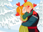 Play Frozen Anna Kissing game