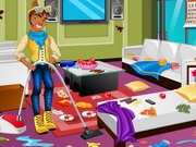 Play Clawd Wolf Messy Room Cleaning game