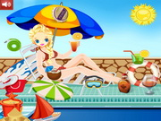 Play Frozen Princess Pool Party game