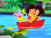 Play Dora River Cleaning game