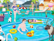 Play Frozen Pool Party Decoration game