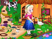 Play Anna Farm House Cleaning game