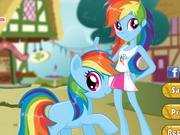Rainbow Dash Pony VS Human Game