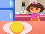 Play Dora's Cooking Mango Cheesecake game
