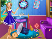 Play Elsa Room Cleaning game