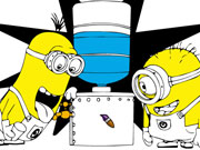 Minions Thirsty Coloring Game