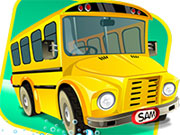 School Bus Car Wash Game