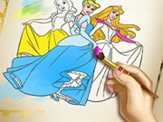 Play Princess Coloring Book game