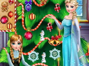 Play Frozen Christmas Tree Design game