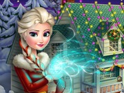Play Frozen X-mas House Makeover game